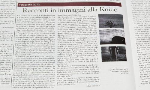 Mostra Koinè (Scicli, RG) articolo
